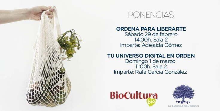 La Escuela del Orden presente en BioCultura A Coruña 2020